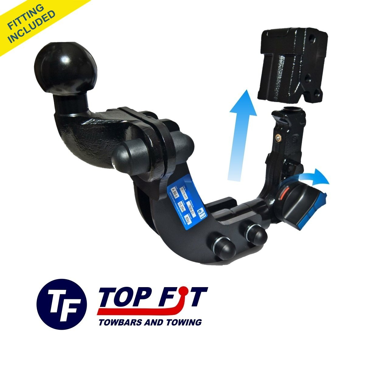 BMW X3 2004 TO 2011 DETACHABLE FLANGE TOWBAR